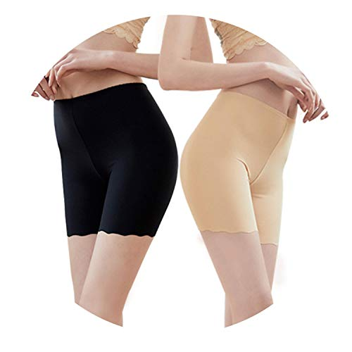 5Pcs/Lot Thin Ice Nothing Trace Insurance Pants High Waist Will Code Underpant Pure Cotton Lingerie]()