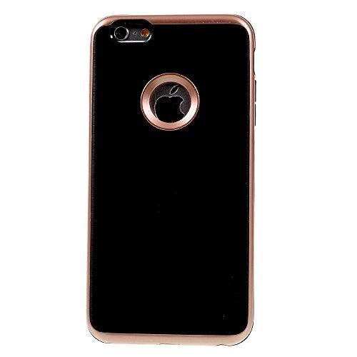 MOFI Detachable PC Rim + Brushed TPU Combo Tasche Hüllen Schutzhülle Case für iPhone 6s Plus/6 Plus - Rose Gold