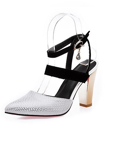 Casual Heel Beige Chunky White Red Women's ShangYi Heels Heels Leatherette Black Red Shoes xpw1tPqI0