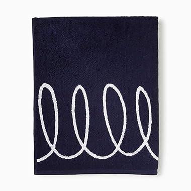 Kate Spade New York Charlotte Street Bath Towel, Navy