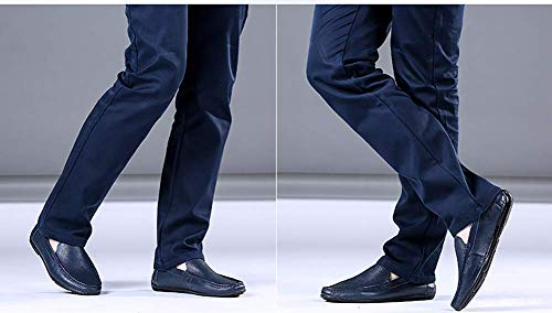 Color On Azul para de 41 Tamaño Simples Cuero Color Azul Azul HhGold Redonda Zapatos Slip 40 Cabeza tamaño Mocasines Hombres para y Hombres de EU cómodos Casual qf1wvBI