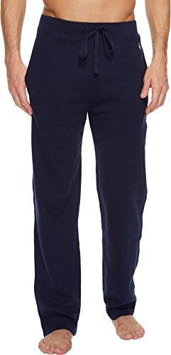 Polo Ralph Lauren Men's Waffle Knit PJ Pants Cruise Navy/Nevis All Over Pony Player Small (Polo Waffle Knit)
