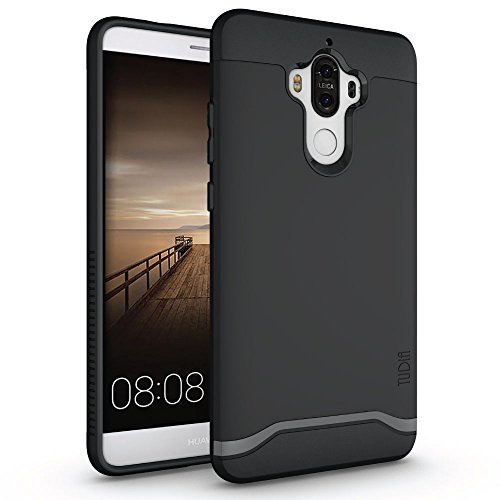 Mate 9 Case, TUDIA Slim-Fit Heavy Duty [Merge] Extreme Protection/Rugged but Slim Dual Layer Case for Huawei Mate 9 (Matte Black)