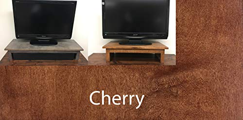 - U DECOR IT Maple Wood TV Riser Stand Mission Style with Slate Finish (Cherry, 38