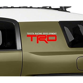 Amazoncom Fj Cruiser Teq Decals Trd Racing In Vinyl Decal Die - Vinyl decals for race carspopular trd vinyl decalbuy cheap trd vinyl decal lots from china