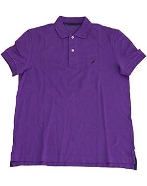 Mens Slim Fit Pique Deck Polo Shirt, Majestic Purple, Medium