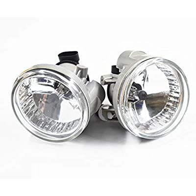 2 Pack Clear Lens Bumper Driving Fog Lights Fit for Toyota Highlander Echo Prius 2004 2005 2006 2007 8122152070 8121152070: Automotive