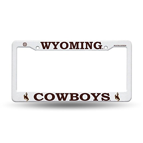 License Plate Official - Rico Wyoming Cowboys Official NCAA License Plate Frame Plastic 454456