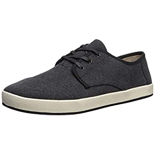 TOMS Men's Paseo Sneaker, Black Washed Canvas, 11.5D Medium US