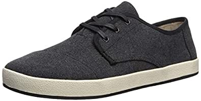 TOMS Men's Paseo Sneaker, Black Washed Canvas, 13 D Medium US