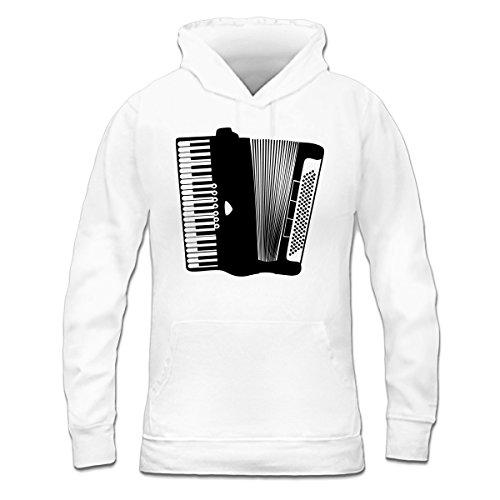 Sudadera con capucha de mujer Accordion Classic by Shirtcity Blanco