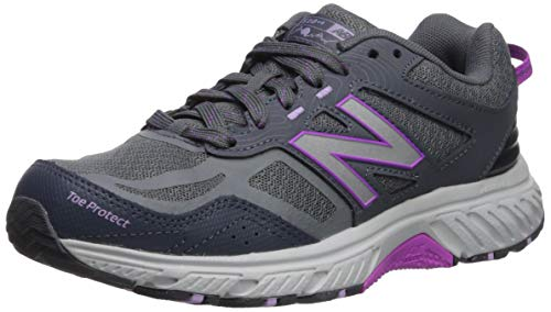 New Balance Women's 510v4 Cushioning Running Shoe, LEAD/VOLTAGE VIOLET, 7 W US