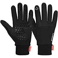 Cevapro Winter Warm Gloves, Touchscreen Gloves Cold Weather Cycling Gloves Windproof Waterproof Winter Sports Gloves for Running, Biking, Driving, Climbing, Hiking - Men & Women