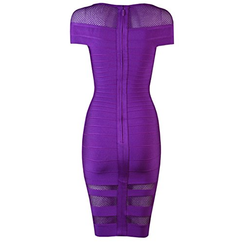 Damen Rosa Kleid Violett Rosa HLBCBG Pink vT7wqTa