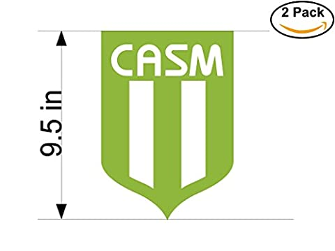 San Miguel Argentina Soccer Football Club FC 2 Stickers Car Bumper Window Sticker Decal Huge 9.5 (San Miguel Salt)