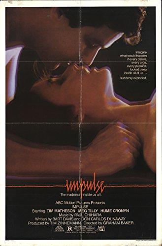 "Impulse 1984 Undisputed 27"" x 41"" Original Movie Poster Fine, Very Good Angus Macfadyen Thriller U.S. One Sheet"