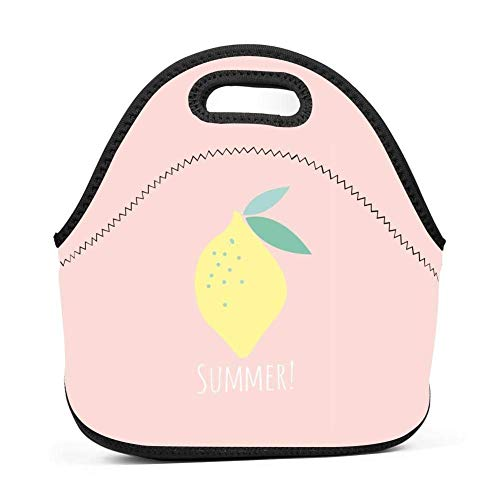Citrine Lemon Lunch Bag Portable Bento Pouch Lunchbox Baby Bag Multifunction Satchel Tote for Outdoor Tour School Office Picnic