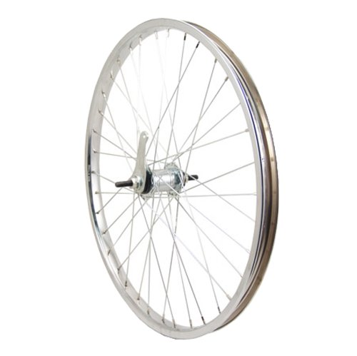 Sta-Tru Silver Steel Coaster Hub Rear Wheel (24X1.75-Inch) by Sta Tru