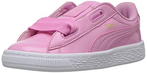 PUMA Baby Basket Heart Patent Sneaker, Prism Pink, 10 M US Toddler