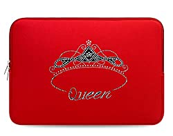 Crystal Bling Rhinestone Studded Red Laptop Case