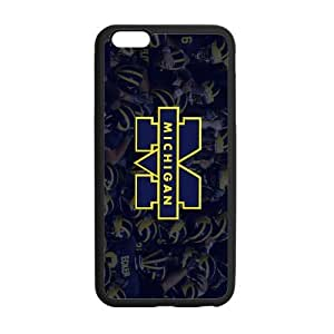 Generic Custom Best Design NCAA University of Michigan Wolverines Blue and Yellow Team Logo Plastic and TPU Case Cover iPhone6 Plus 5.5