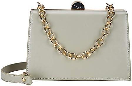 AODEK Single Shoulder Slung Handbag PU Solid Color Wild Chain Small Square Bag