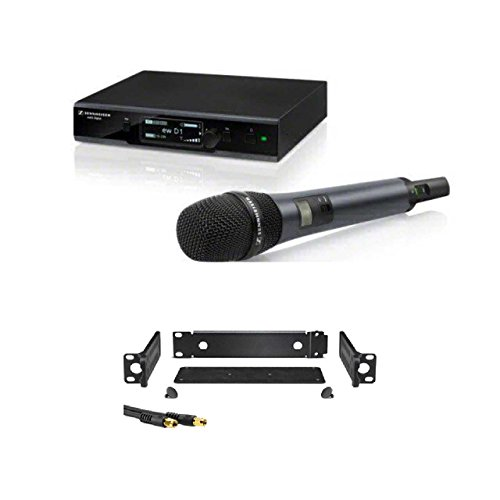 Sennheiser EW D1-835S Evolution Wireless D1 Digital Vocal System with Handheld Microphone E835 Dynamic Cardioid Capsule + GA 4 Rackmount Set ()