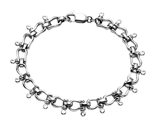 Wild Things Sterling Silver Woman's Shackle Bracelet w/Lobster Claw Clasp, 7.5 Inches