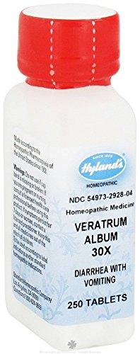 Hylands Homeopathic Veratrum Alb 30X 250 Tab