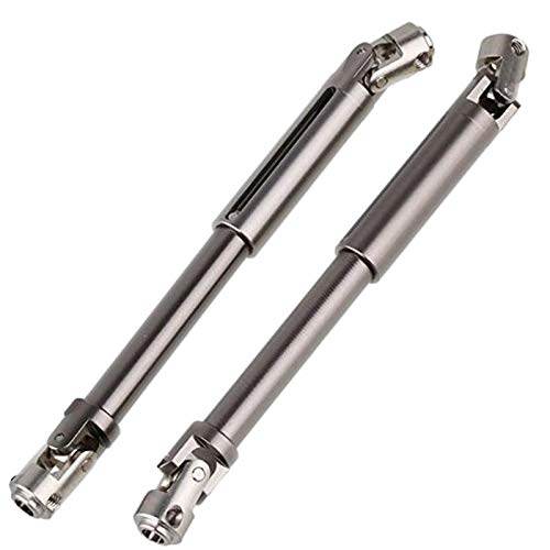 SODIAL 2pcs Scx10 Steel Universal Drive Shaft with Cvd 90-115mm for 1/10 Scale Models Rc Car Axial Crawler Tf2 Trx4 ()