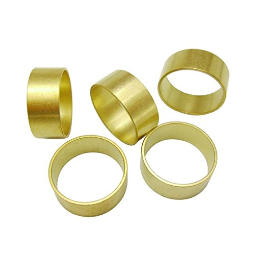 - 20pcs Thick Brass Tube Round Circle Ring Blanks Stampings Bases Size 8 Personalized Lead Nickel Chromium Free Crafters