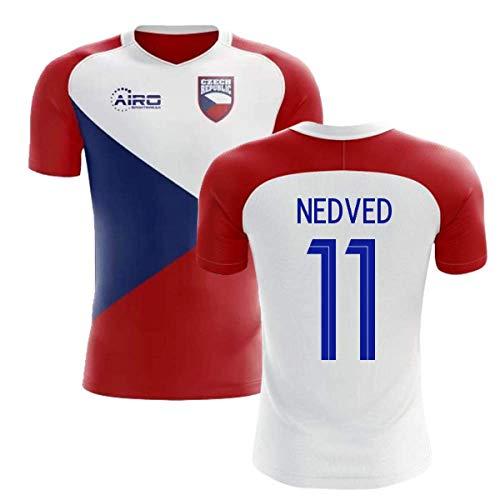 Airosportswear 2018-2019 Czech Republic Home Concept Football Soccer T-Shirt Jersey (Pavel Nedved 11) - Kids