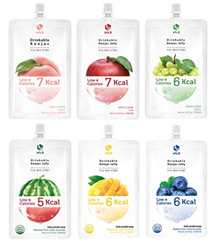 Amazon Com Jelly B Drinkable Konjac Jelly 10 Packs Of 150ml Healthy And Natural Weight Loss Diet Supplement Foods 0 Gram Sugar Low Calorie Only 6 Kcal Each Packets Peach Grocery Gourmet Food