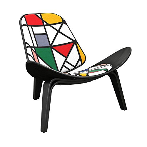 NyeKoncept 14000519 Vibrant Modernist Shell Chair, Black from NyeKoncept