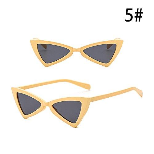 de Retro Accesorios de Triángulo Exterior Gafas Gafas Anti la de UV Vintage de Sol ZHANGYUSEN Mujeres E G Moda Personalidad 4vcRwyqaT
