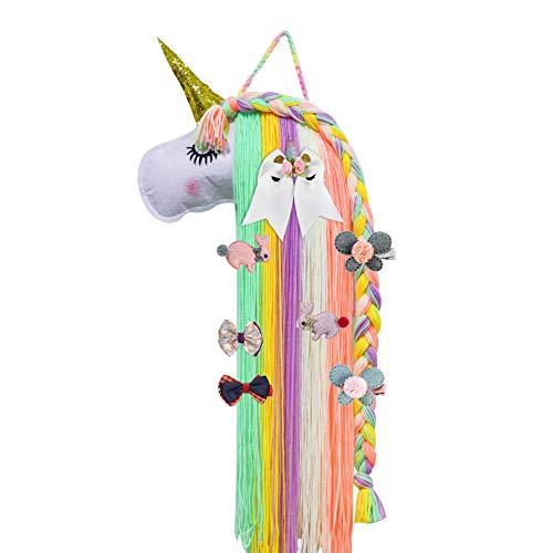 Unicorn Hair Clips Holder, Girl Women Fringe Hair Bows Headband Storage Organizer Unicorn Theme Party Decorations ()