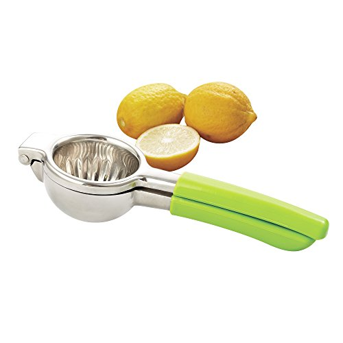 Cook N Home 02447 Manual Lemon/Citrus Hand Juicer Squeezer, with Silicone removable handle, Stainless Steel