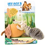 Ice Age 3, Dawn of the Dinosaurs, Scrat Wrestling Acorn Battery Operated Plush Doll Toy