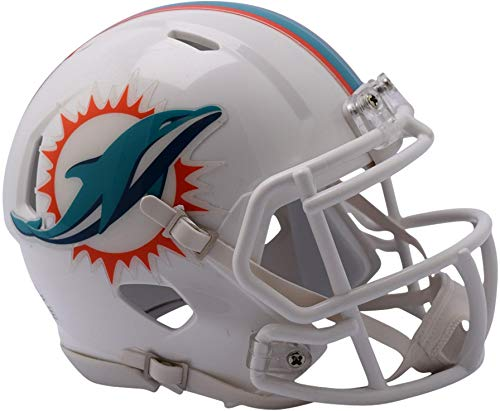 Sports Memorabilia Riddell Miami Dolphins Revolution Speed Mini Football Helmet - NFL Mini Helmets