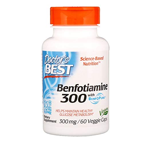Best Benfotiamine, 300 mg, 60 vcaps by Doctors Best (Pack of 3)