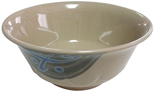 Yanco JP-5265 Japanese Curved Noodle Bowl, 20 oz Capacity, 2.5'' Height, 6'' Diameter, Melamine, Pack of 48 by Yanco