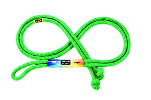 Just Jump It 8 Foot Single Jump Rope - Active Outdoor Youth Fitness - Green