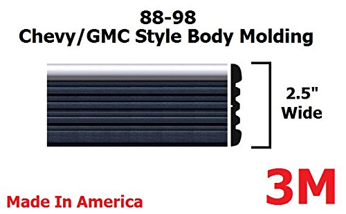 Autmotive Authority 1988-1998 Chevy GMC Chrome Side Body Trim Molding Tahoe Suburban Silverado Pickup Truck - 2.5