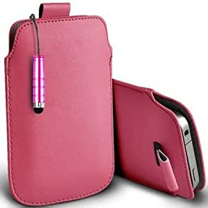Bloutina Shelfone Stylish Protective Leather Pull Tab Skin Case Cover For Samsung W999 S Includes Stylus Pen Light Pink...