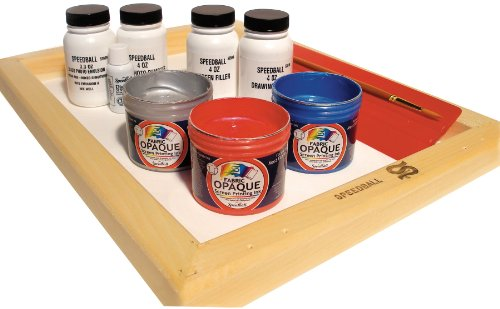 Speedball Super Value Opaque Fabric Screen Printing Kit by Speedball