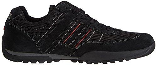 Dockers by Gerli 36HT001-206100 - zapatilla deportiva de cuero hombre negro - negro