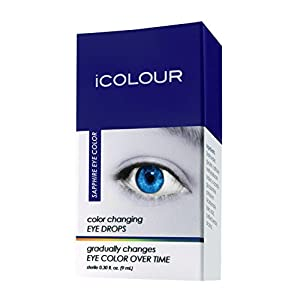 iCOLOUR Color Changing Eye Drops - Change Your Eye Color Naturally - 1 Month Supply - 9 mL (Sapphire)