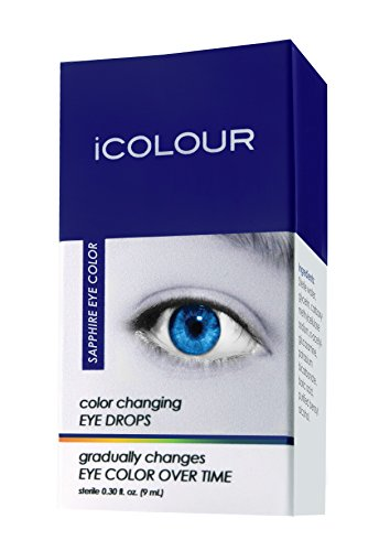 iCOLOUR Color Changing Eye Drops - Change Your Eye Color Naturally - 1 Month Supply - 9 mL (Sapphire)]()