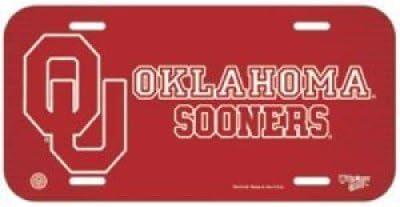 Wincraft Oklahoma Sooners Plastic License Plate