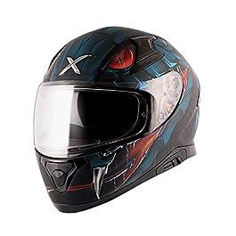 axor Apex Venomous Dull Black Blue Helmet-L